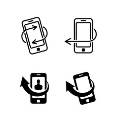 Call me back icons set vector