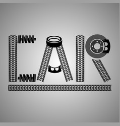 car lettering image vector image