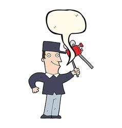 Cartoon film maker with speech bubble vector