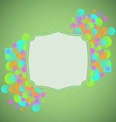 Celebration concept on green background vector