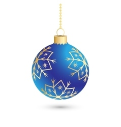 Christmas ball decoration background with vector image