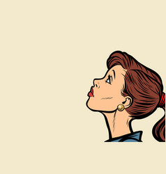 close-up woman face profile vector image vector image