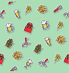 colored brewing icons set pattern vector image