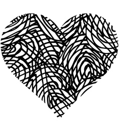 doodle heart shaped 2 vector image vector image