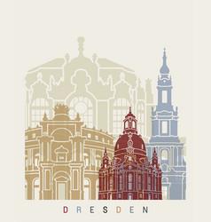 Dresden skyline poster vector