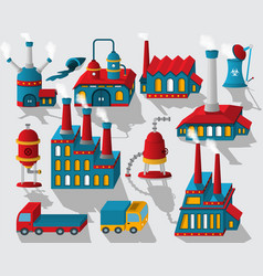 Factory - buildings and other objects vector