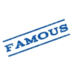 Famous watermark stamp vector