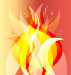 Fiery background vector
