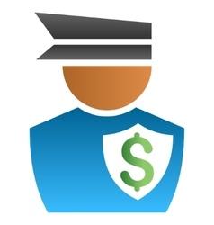 Financial policeman gradient icon vector