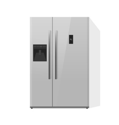 Fridge isolated doors vector image vector image
