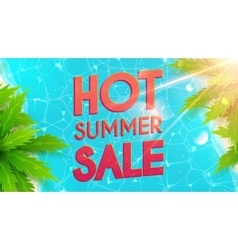 Hot summer sale banner vector image vector image