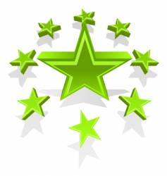 illustration of green stars vector image vector image