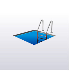 Ladder down the square hole hatch vector