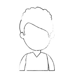 little boy student with uniform character vector image