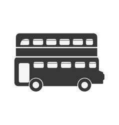 London bus transport service icon vector
