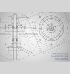 Mechanical engineering drawings background vector