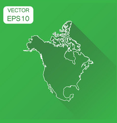 North america linear map icon business vector