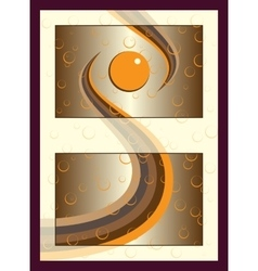 Orange gold spa cosmetics sticker label concept vector image vector image