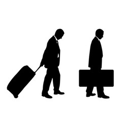 people with luggage vector image