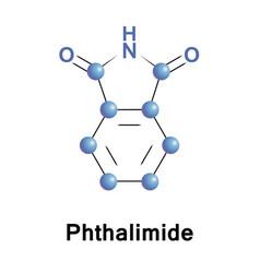 Phthalimide organic molecule vector