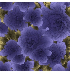 Seamless violet flowers vector image