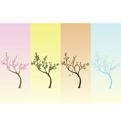 seasonal background vector image vector image