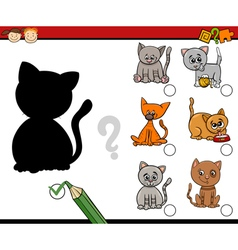 shadows task for kids vector image vector image