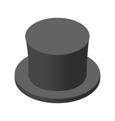 Snowman black hat isometric icon vector image vector image