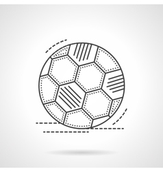 Soccer ball flat line icon vector image