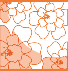 Tropical flower decorative pattern vector