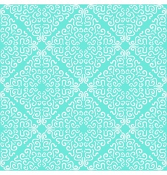 White curly graphic pattern on blue background vector