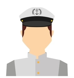 Captain sailor man icon vector