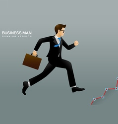 Business man run vector