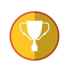 Isolated trophy cup design vector
