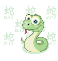 Snake Year vector image