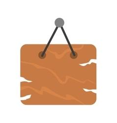 Brown wooden signboard vector image