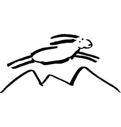 Flying sheep of white color vector