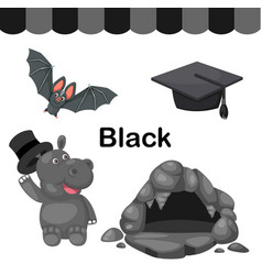 Isolated color black group vector