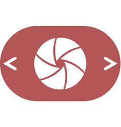 Camera shutter icon vector