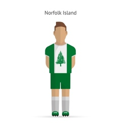 Norfolk island football player soccer uniform vector