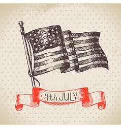 4th of july vintage background vector