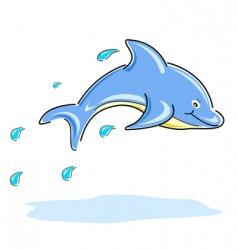 happy dolphin vector image