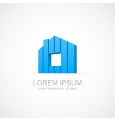House abstract real estate icon vector image