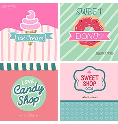 Sweet shop set - vector