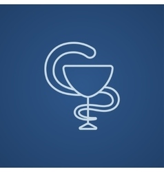Pharmaceutical medical symbol line icon vector