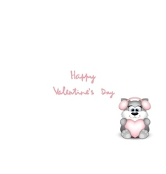 Funny valentine cat on white background vector