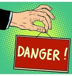 Hand sign danger vector