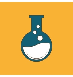 Laboratory flask over white background vector