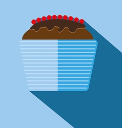 Candy card with a big chocolate cream cake vector