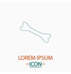 Dog bone computer symbol vector
